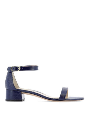 Stuart Weitzman: sandals - Nudistjune polished pebble leather sandals