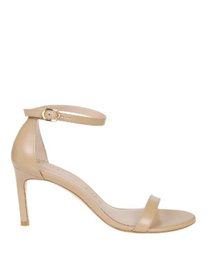 Stuart Weitzman: sandals - Nunakedstraight leather sandals