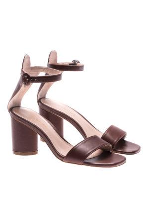 Stuart Weitzman: sandals online - Kendra leather sandals