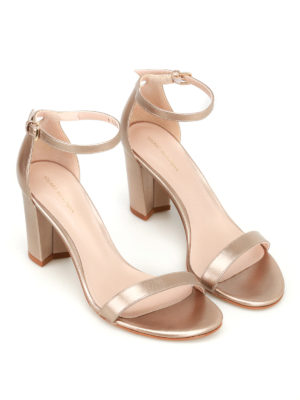 Stuart Weitzman: sandals online - Nearly Nude gold-tone sandals