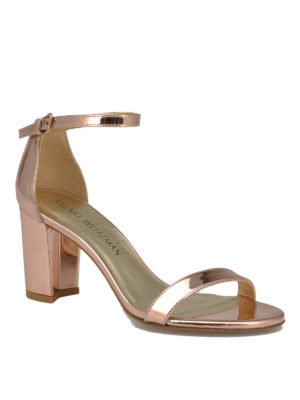 Stuart Weitzman: sandals online - Nearlynude shining sandals
