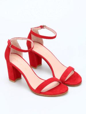 Stuart Weitzman: sandals online - Nearlynude suede sandals