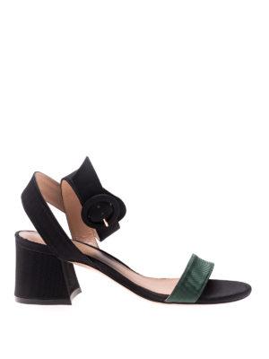 Stuart Weitzman: sandals - Salana ribbed fabric sandals