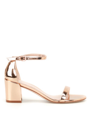 Stuart Weitzman: sandals - Simple gold-tone patent sandals