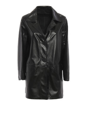 Sylvie Schimmel: leather coats - Leather single-breasted coat