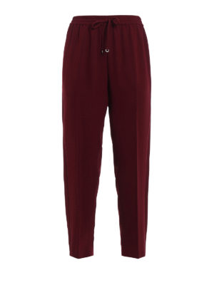 T By Alexander Wang: casual trousers - Loose crepe trousers