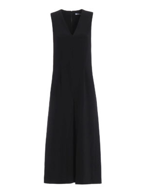 T By Alexander Wang: jumpsuits - Crepe sleeveless midi jumpsuit