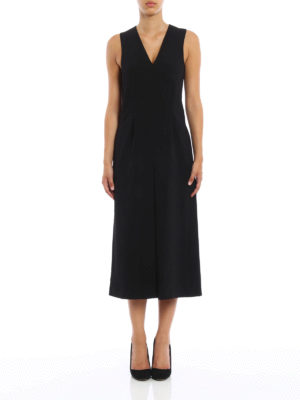 T By Alexander Wang: jumpsuits online - Crepe sleeveless midi jumpsuit