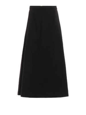 T By Alexander Wang: Long skirts - Cotton flared skirt