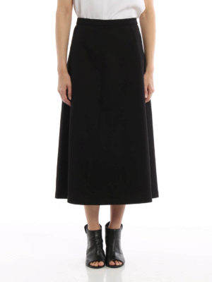 T By Alexander Wang: Long skirts online - Cotton flared skirt