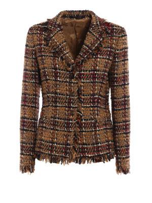 Tagliatore: blazers - Adele fringed tweed jacket