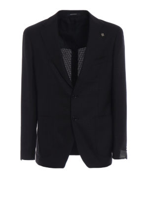 TAGLIATORE: giacche blazer - Blazer in lana occhio di pernice blu marrone