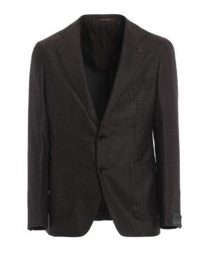 TAGLIATORE: giacche blazer - Blazer marrone in lana e cashmere