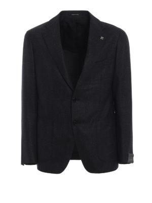 TAGLIATORE: giacche blazer - Blazer antracite in lana e cashmere
