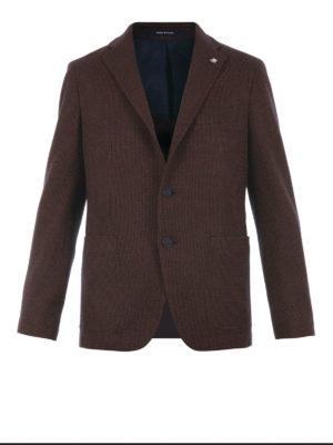 Tagliatore: blazers - Houndstooth virgin wool blazer