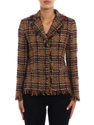 Tagliatore: blazers online - Adele fringed tweed jacket