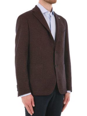 Tagliatore: blazers online - Houndstooth virgin wool blazer