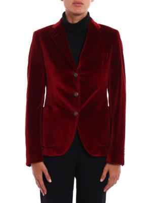 Tagliatore: blazers online - Smooth velvet blazer