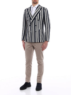 Tagliatore: blazers online - Striped unstructured blazer