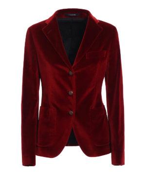 Tagliatore: blazers - Smooth velvet blazer