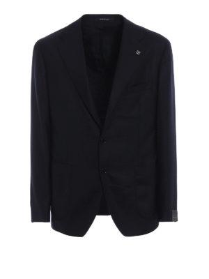TAGLIATORE: giacche blazer - Blazer blu tinta unita in lana e cashmere