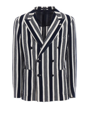 Tagliatore: blazers - Striped unstructured blazer