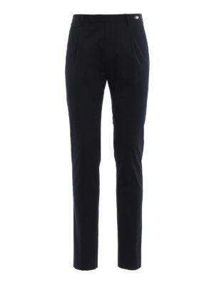 TAGLIATORE: pantaloni casual - Pantaloni cotone stretch blu scuro