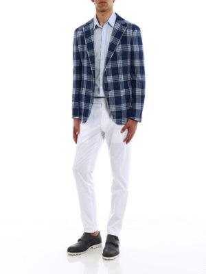 Tagliatore: casual trousers online - White stretch cotton trousers