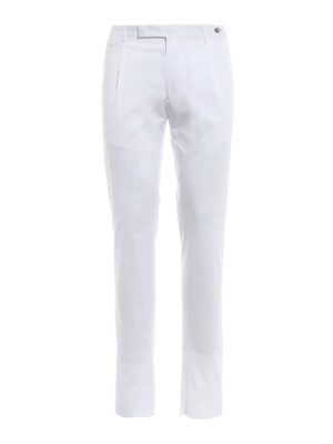 Tagliatore: casual trousers - White stretch cotton trousers