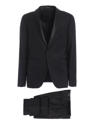 Tagliatore: dinner suits - Jacquard virgin wool tuxedo