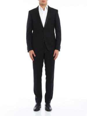 Tagliatore: dinner suits online - Jacquard virgin wool tuxedo