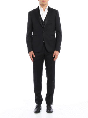 Tagliatore: dinner suits online - Three-piece virgin wool tuxedo