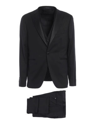 Tagliatore: dinner suits - Three-piece virgin wool tuxedo
