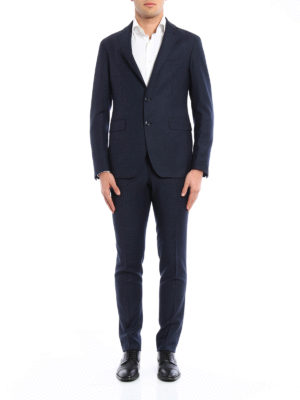 Tagliatore: formal suits online - Micro patterned wool suit