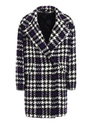 Tagliatore: knee length coats - Agatha maxi houndstooth coat