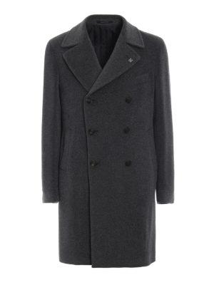TAGLIATORE: cappotti al ginocchio - Cappotto doppiopetto in alpaca
