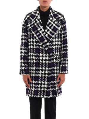 Tagliatore: knee length coats online - Agatha maxi houndstooth coat