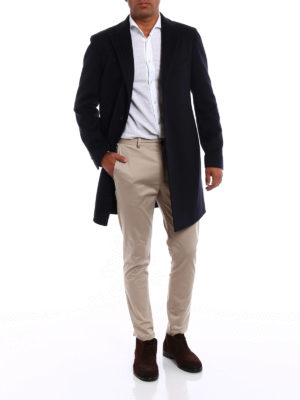 Tagliatore: knee length coats online - Cashmere cloth formal coat