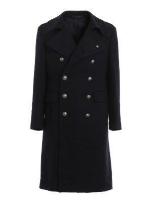 TAGLIATORE: long coats - Double-breasted wool blend coat