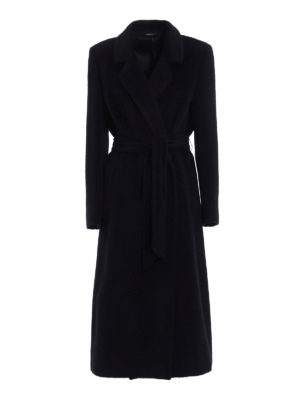 Tagliatore: long coats - Molly wrap coat