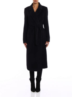 Tagliatore: long coats online - Molly wrap coat