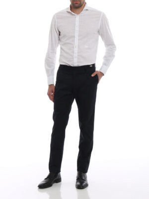 TAGLIATORE: pantaloni casual online - Pantaloni cotone stretch blu scuro