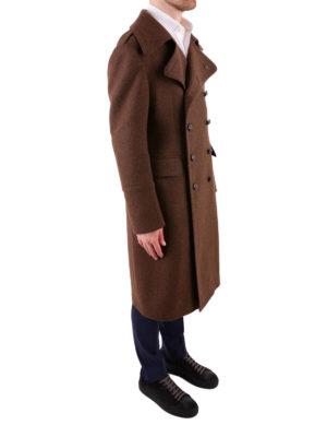 TAGLIATORE: cappotti al ginocchio online - Cappotto doppiopetto in misto lana marrone