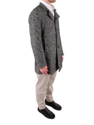 TAGLIATORE: cappotti corti online - Cappotto in misto lana bianco e nero