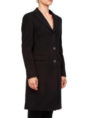 TAGLIATORE: cappotti corti online - Cappotto monopetto in panno nero