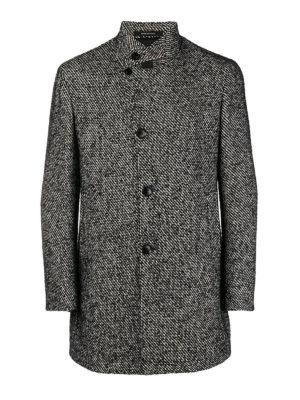 TAGLIATORE: cappotti corti - Cappotto in misto lana bianco e nero