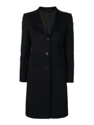 TAGLIATORE: cappotti corti - Cappotto monopetto in panno nero