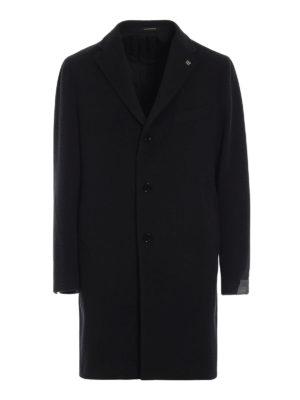 TAGLIATORE: cappotti corti - Cappotto in lana e cashmere color antracite