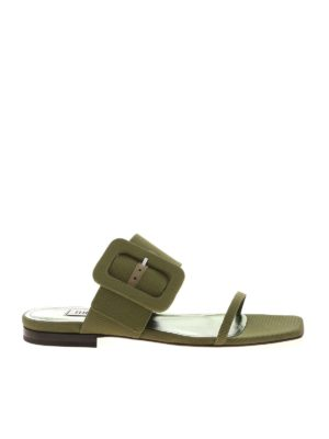 The Attico: sandals - Buckle sandals in green