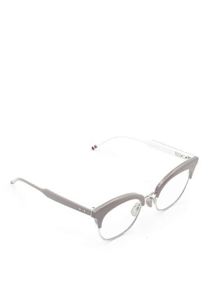 Thom Browne: glasses - Acetate cat-eye optical glasses
